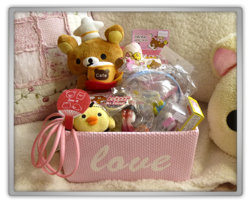 blippo rilakkuma korilakkuma kiiroitori plush pink love candy strawberry chocolate charm keyring shoelaces notepad notebook stickers bento kawaii cute japanese asian haul