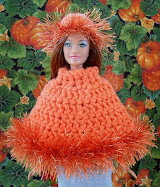 barbie pumpkin picking poncho