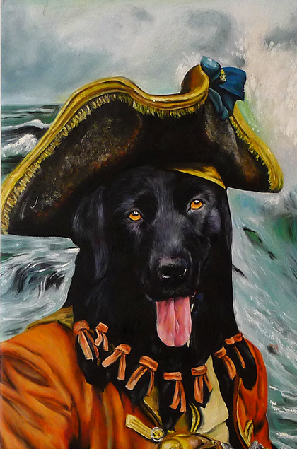 07-The-Pirate-Splendid-Beast-Your-Animal-Friend-on-an-Oil-Painting-www-designstack-co