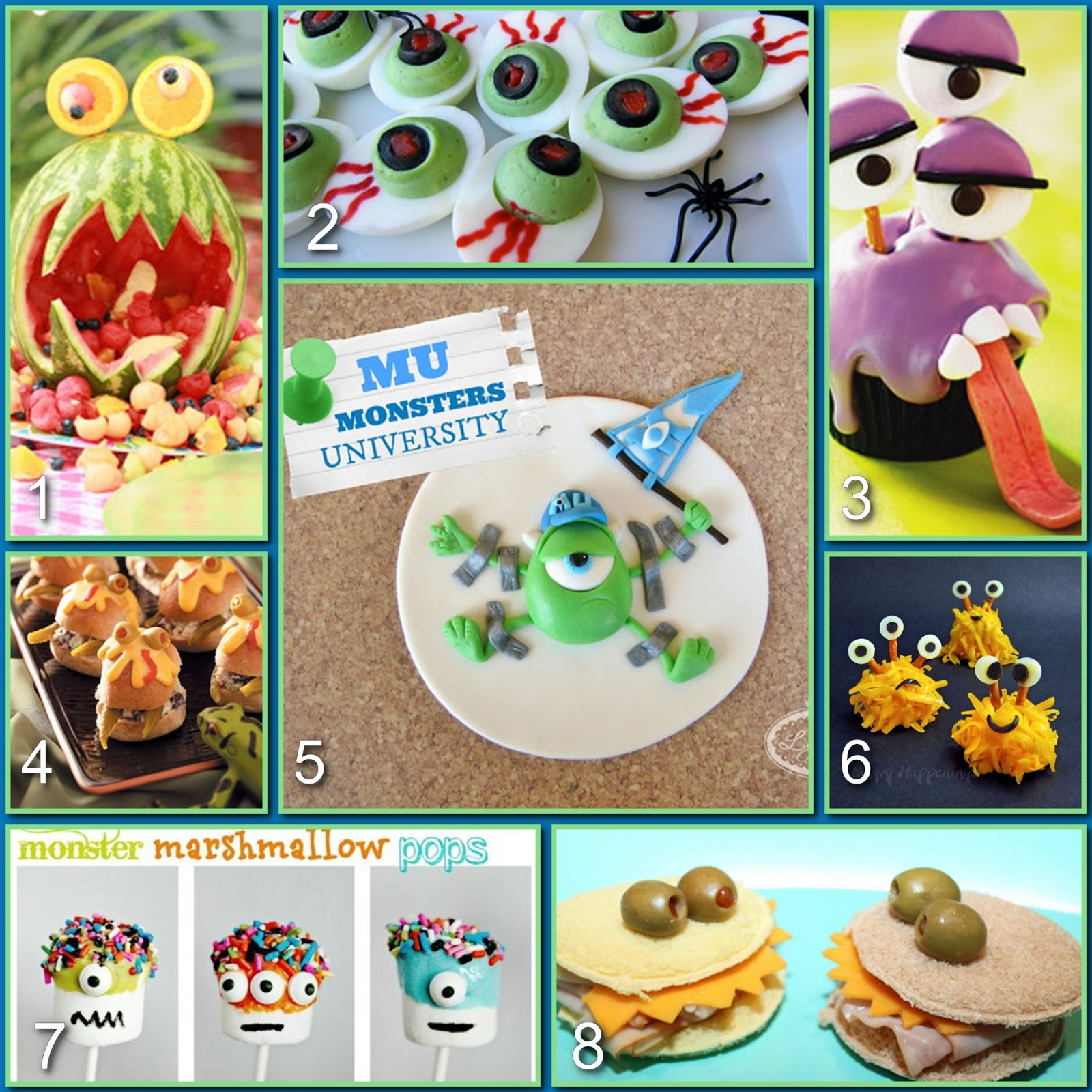 Monsters University Food Party Board