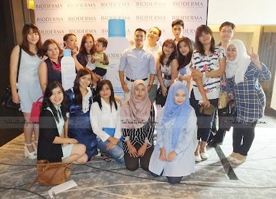 Para blogger yang hadir dalam acara peluncuran Bioderma Hydrabio Range di Hotel Pullman, Jakarta