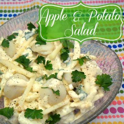 Apple & Potato Salad ~ A fresh take on Potato Salad ~ unbelievably delicious ! #Salad AppleRecipe #PotatoSalad