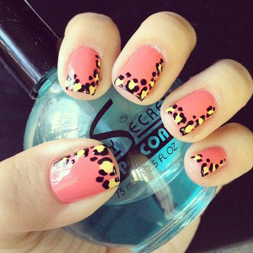 as unhas decoradas Decoração Leopard