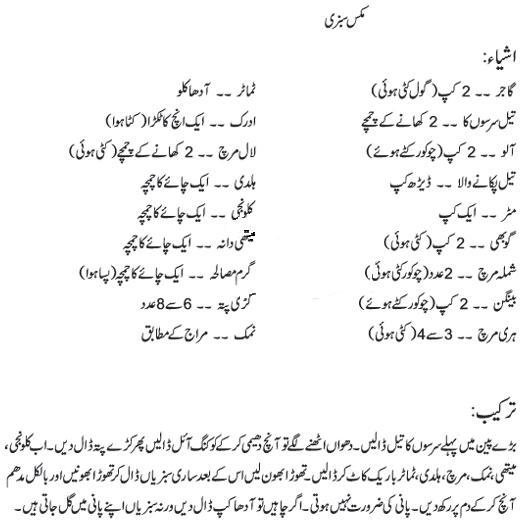 Mix Sabzi Special Recipe In Urdu