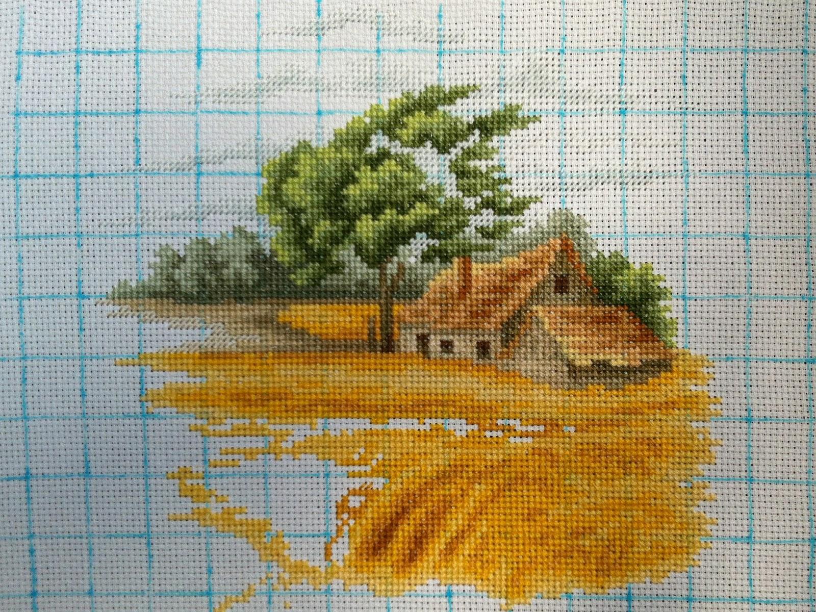 Вышивка крестом осенний пейзаж luca-s 763