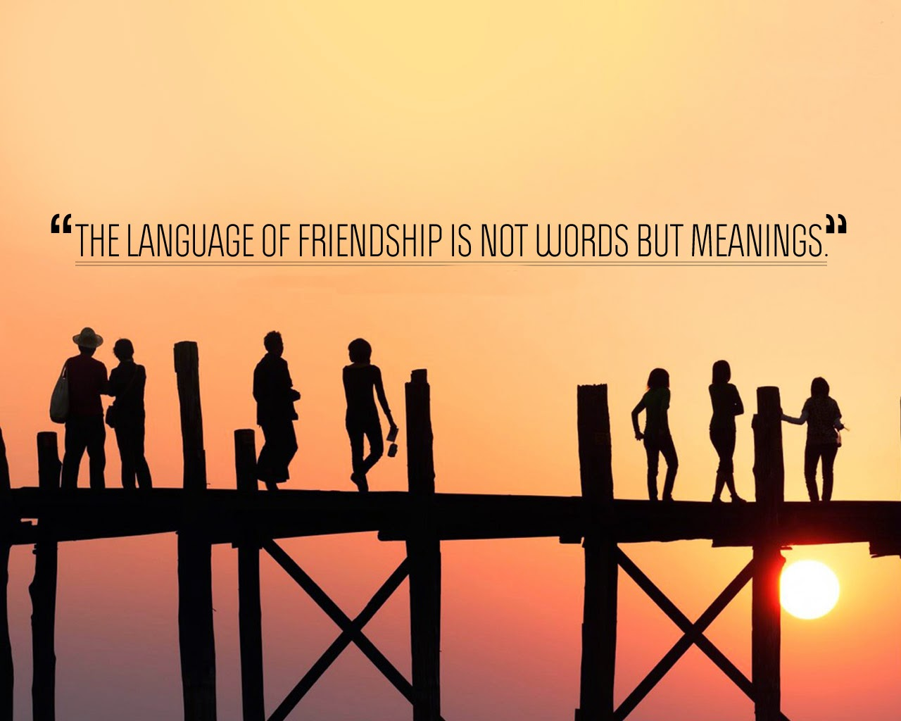 Quotes About Friendship Wallpapers Best Short Quote With Wallpaper Image The