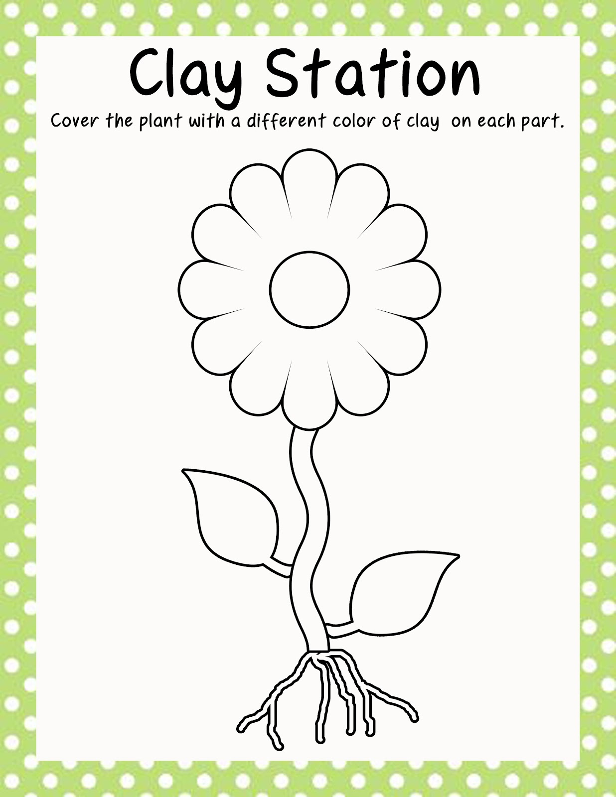 Parts of Plants Coloring Page http://polkadotsandteachingtots.blogspot.com/2012/07/50-follower-giveaway-structures-of.html