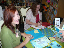 Christina and Scotti at Blue Manatee Bookshop