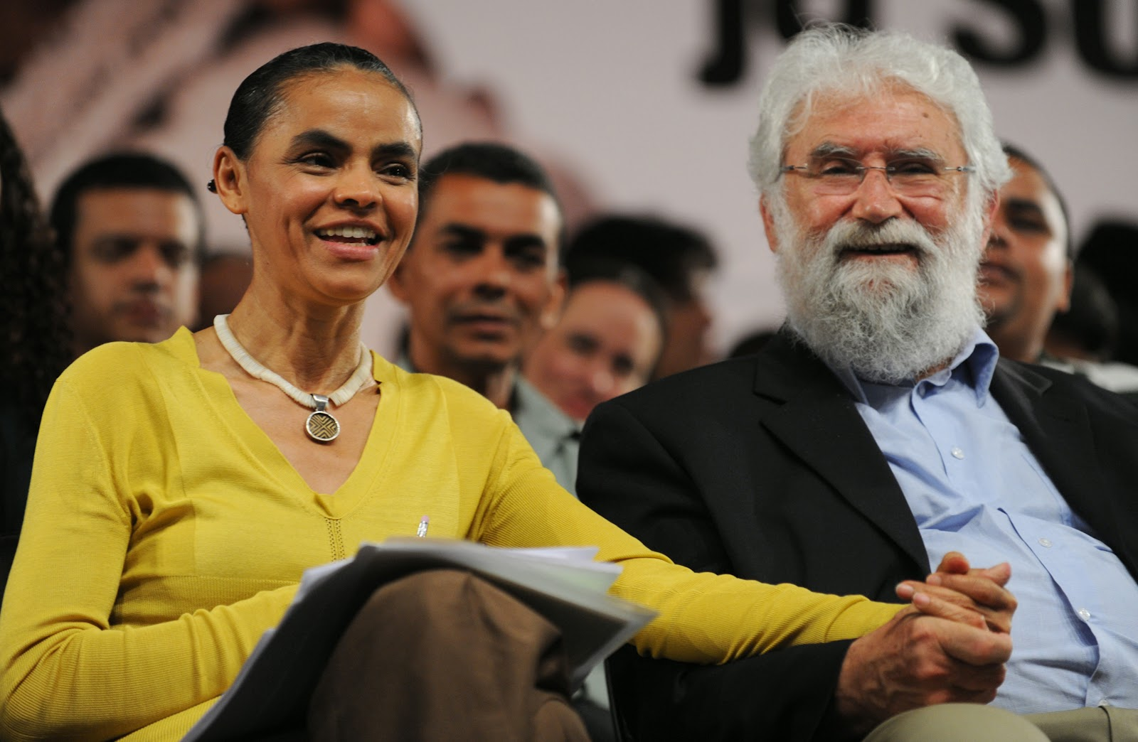 Marina Silva & Leonardo Boff, June 2010.