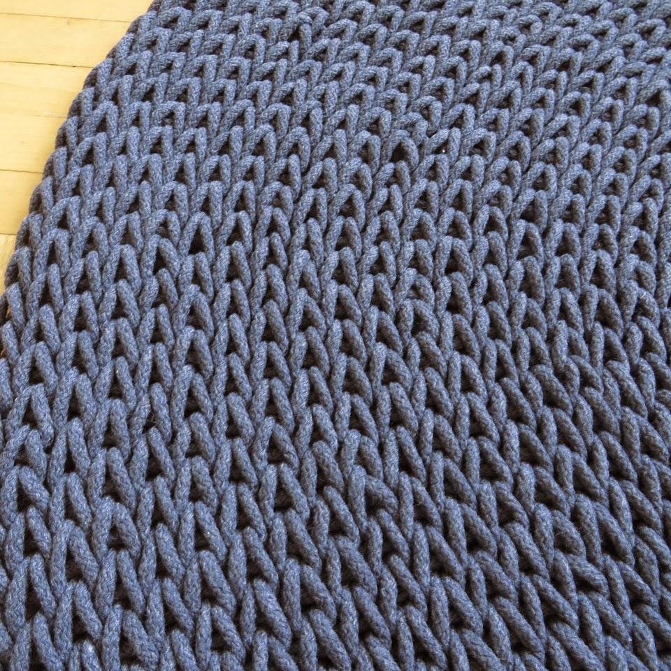 okrągły dywan indygo
