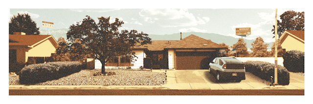 Breaking Gifs Limited Edition Breaking Bad Screen Prints - The White Residence by Mark Englert