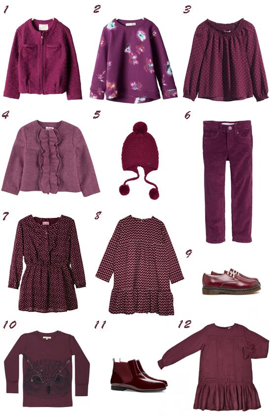Especial tendencias moda niña: Los colores de la vendimia