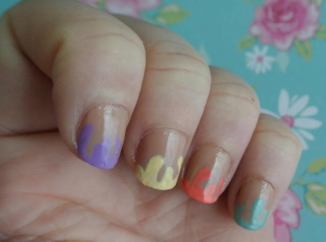 sunday nails 20 drip drip