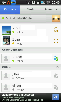 Android Messenger - Contacts
