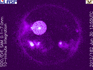 Erupción solar clase M 1.0 alrededor de las manchas solares 1513, 30 de Jnuio 2012
