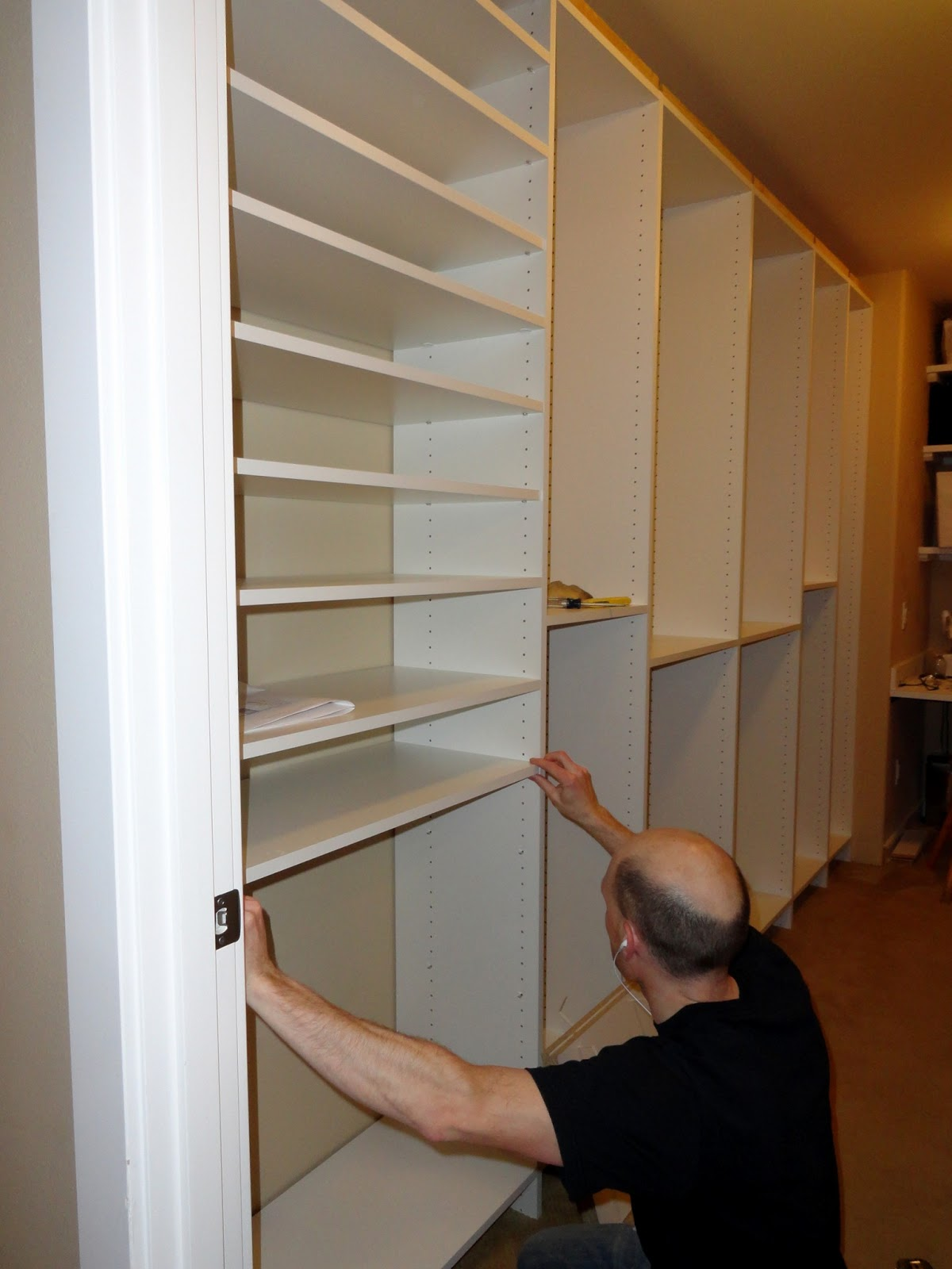 master closet built in progress rachel teodoro. Black Bedroom Furniture Sets. Home Design Ideas