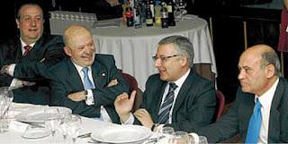 Jorge Dorribo (izquierda) y Pepiño, junto a otros dos buenos elementos