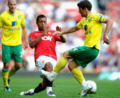 Luis Nani Manchester United vs Norwich City