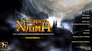German title screen of Lords of Xulima