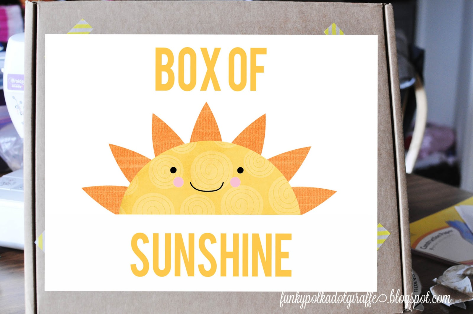 Selective image pertaining to box of sunshine printable