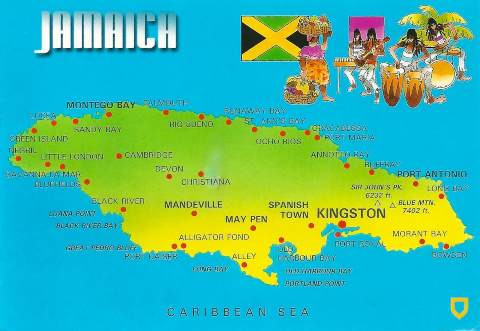 My Favorite Views Jamaica Map