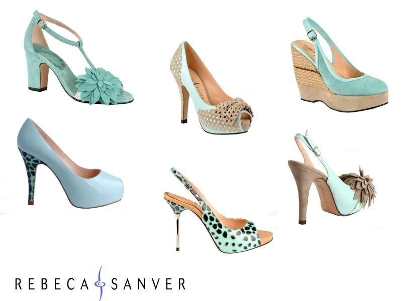 Que color de zapatos para vestido verde agua