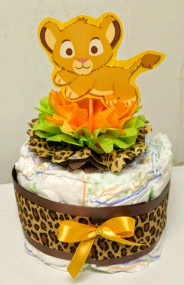 How To Make A Lion Diaper Cake