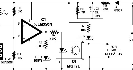 electronic circuit  lm358n