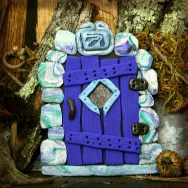 Blue Fairy Door - Carol Marion