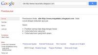 Tampilan jika kena google sandbox