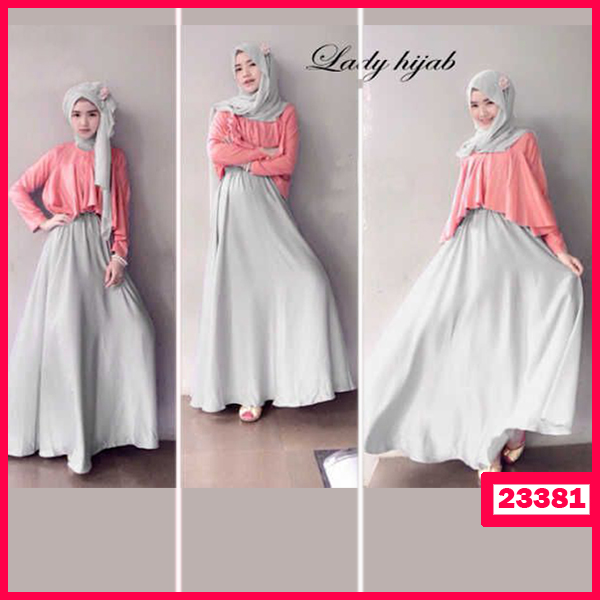 Busana: Busana Fashion Wanita Dress Hijab Khanza 3in1 (BBB-054)