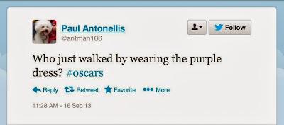Twitter example Oscars #oscars