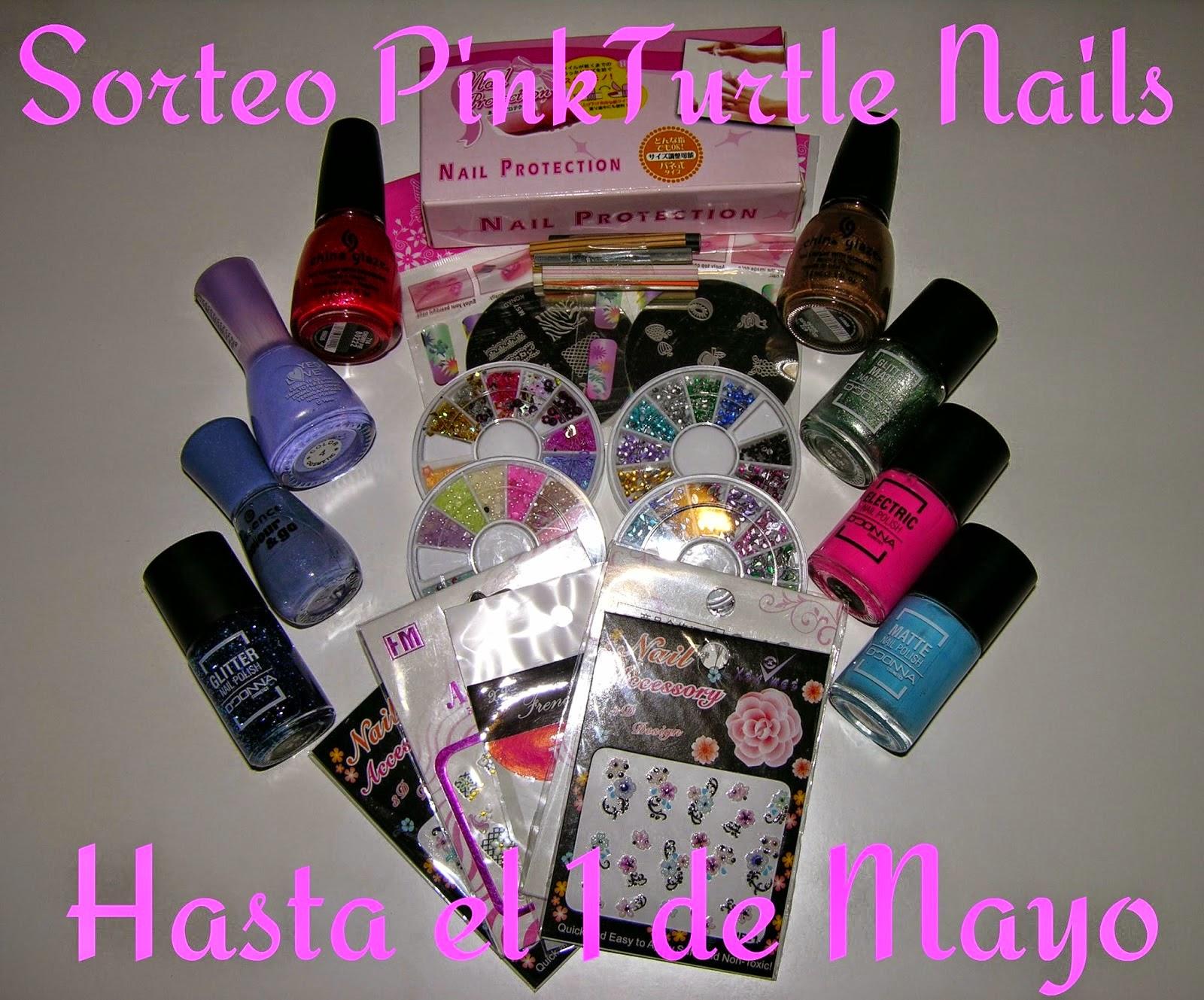 sorteo pink turtle nails