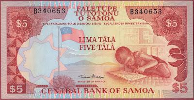 Samoa 5 Tala 2003 P# 33a