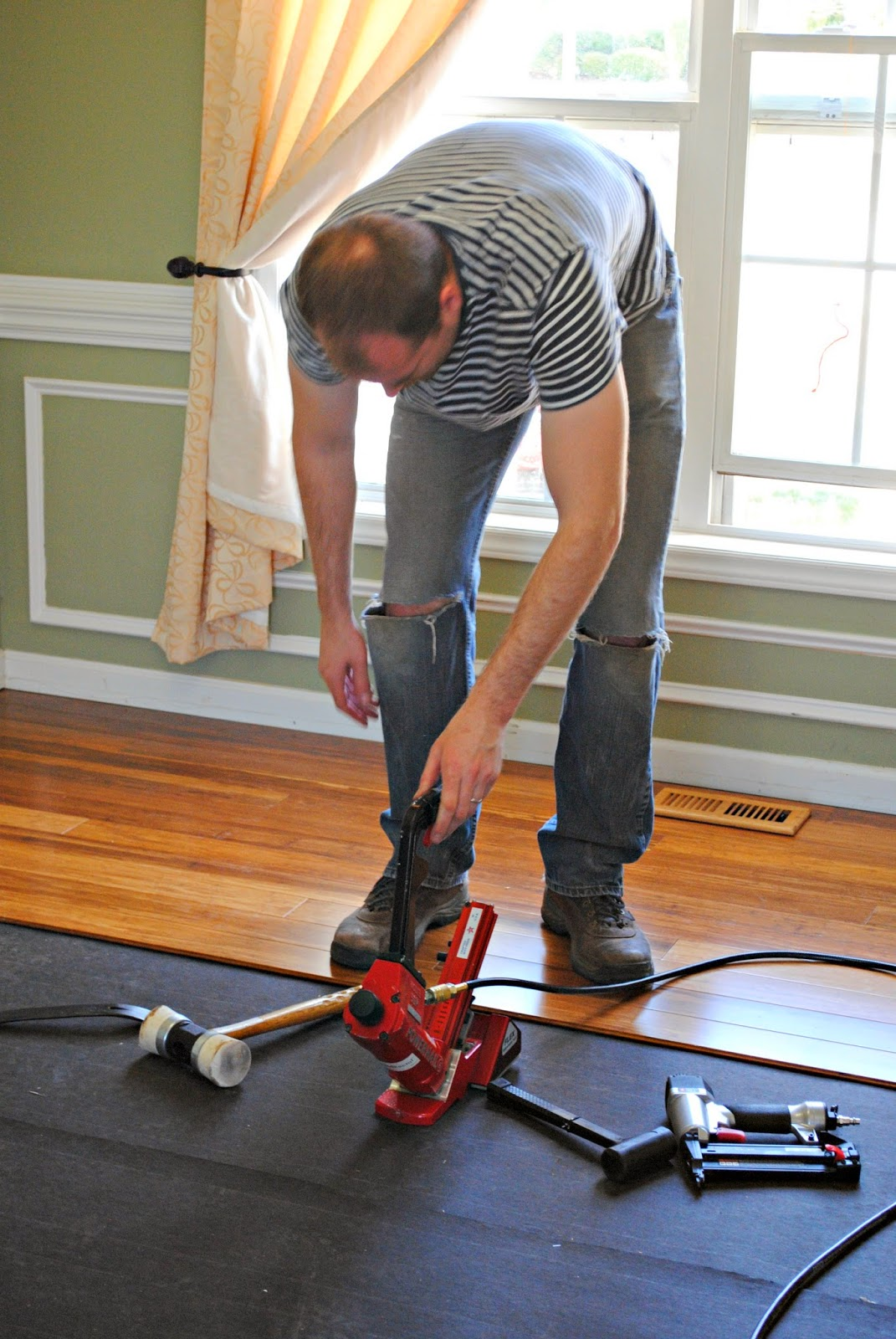 Using a Flooring Nailer