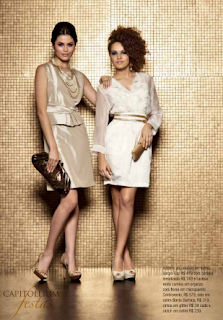 Vestidos de NocheVieja 2012 dos piezas blanco