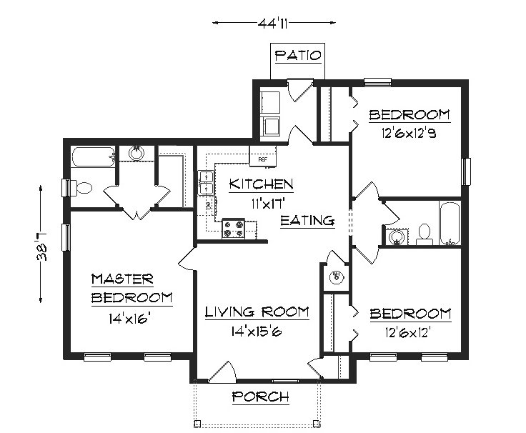 Home design house designs home designs plans november for Popular ranch floor plans