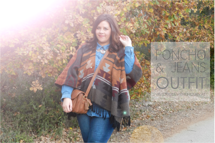 PONCHO & JEANS Outfit