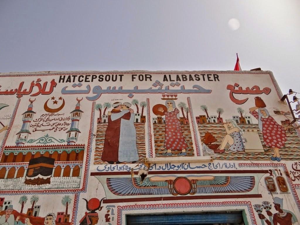 Luksor - fabryka alabastru