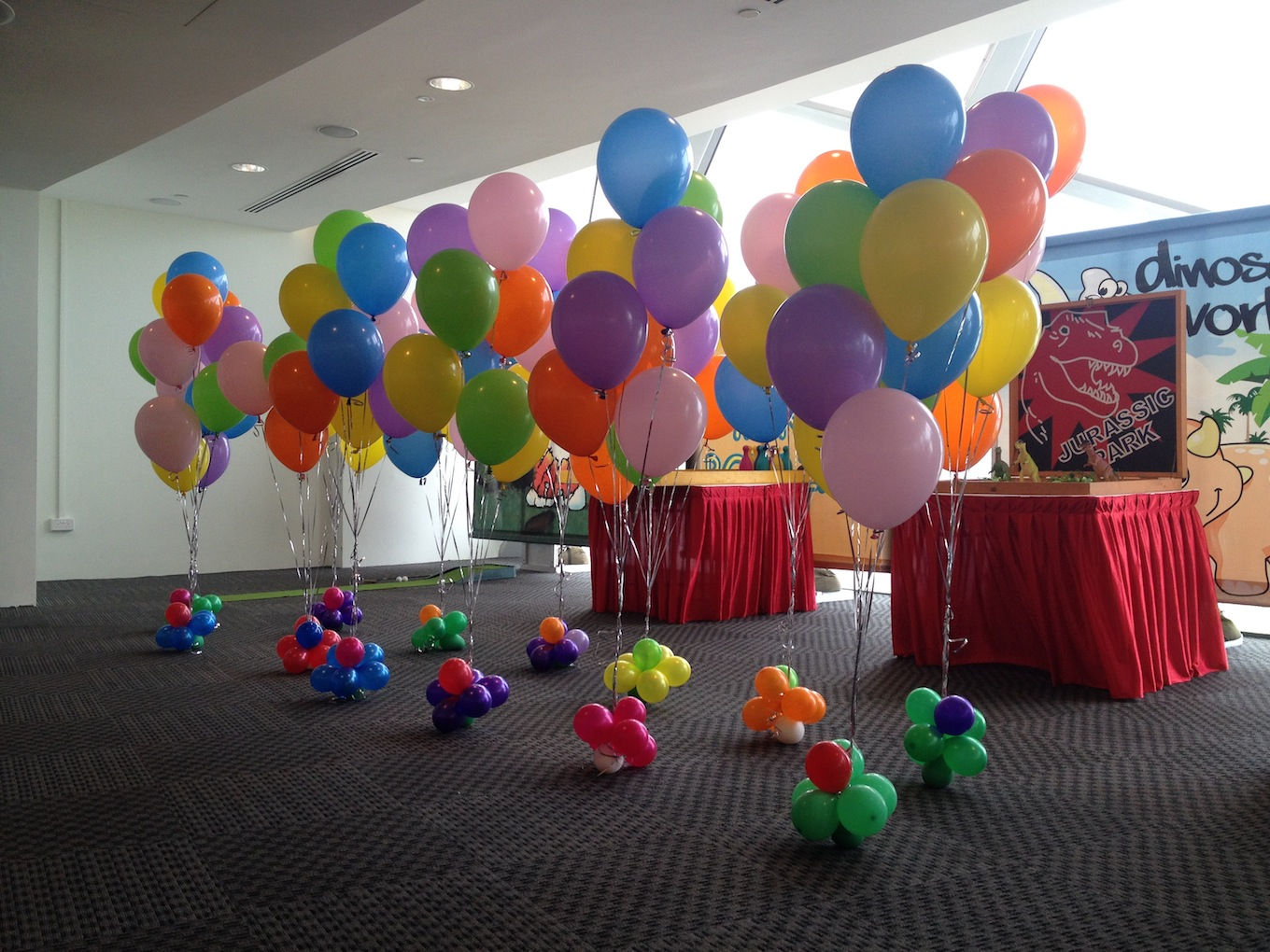 100pcs of 12 latex balloon helium balloon is rm350 for Balloon decoration ideas without helium
