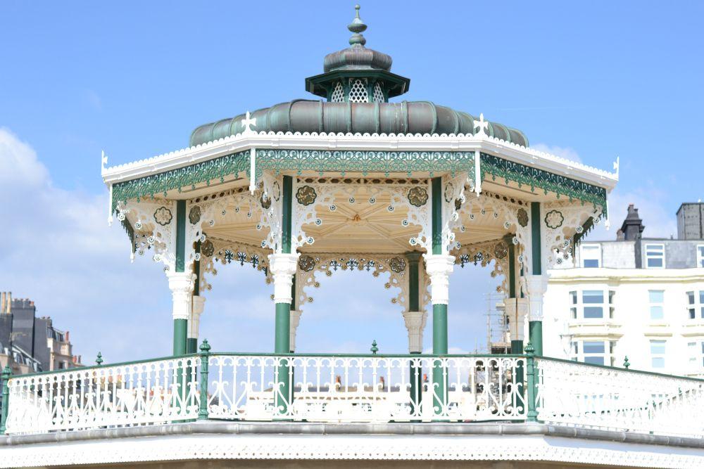 bandstand brighton sunshine beach vintage