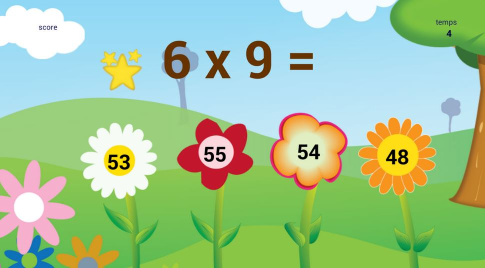 Application pour apprendre les tables de multiplication for Apprendre ses tables de multiplication