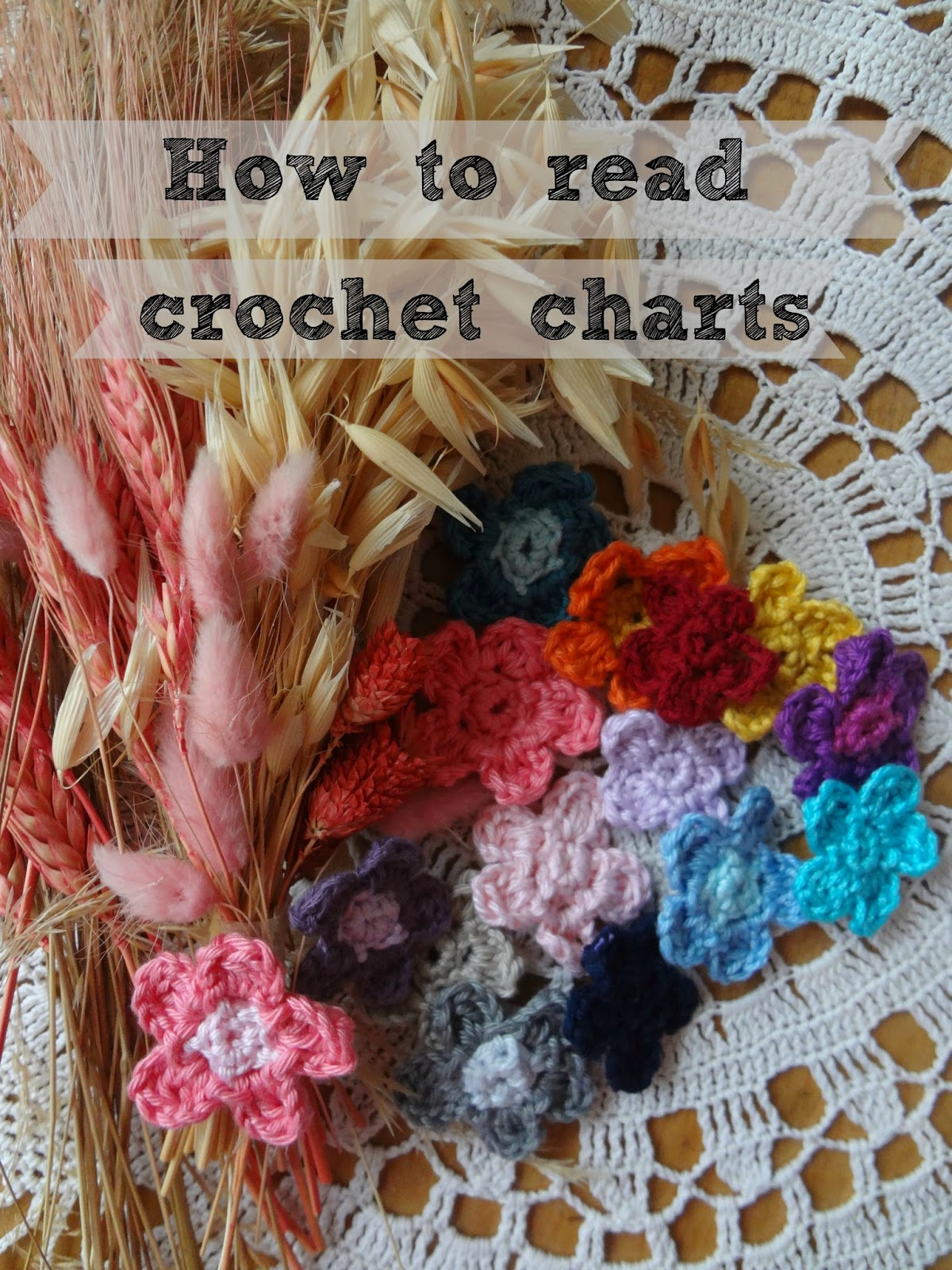 How To Read Crochet Patterns : ... Treasures: How to read round crochet charts and a free flower pattern