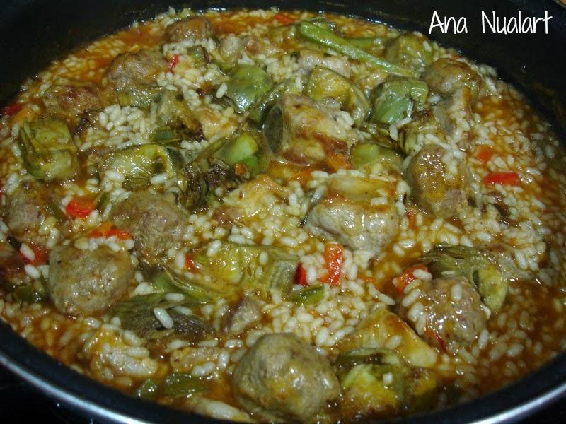La cocinera de b tulo arroz meloso con alcachofas - Arroz caldoso con costillas y alcachofas ...