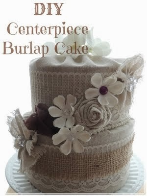 DIY Burlap Cake