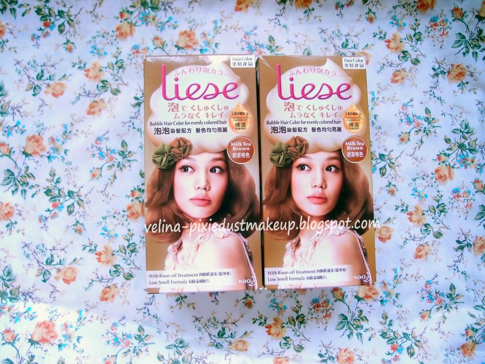 Velina Pixie Dust Makeup Liese Bubble Hair Color Milk Tea