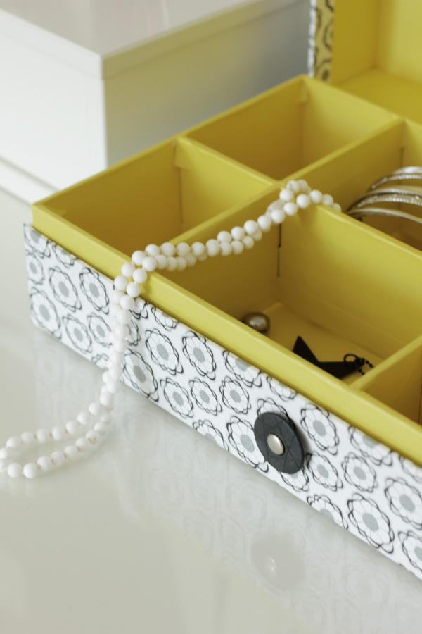 smyckeslåda, pappersbox från netto, inreda boxar, lådor, smycken, snygga mönster på lådor