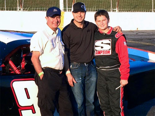 Butch, David, and Todd Gilliland - Grandfather, Father, Son Race