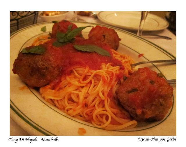Image of Linguine with meatballs at Tony Di Napoli in Times Square NYC, New York