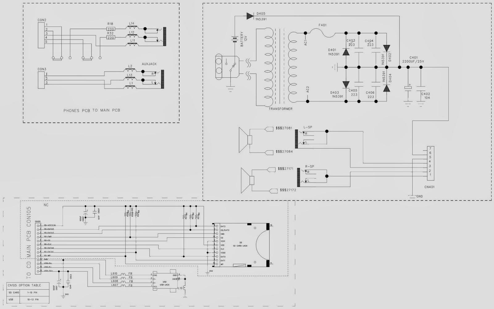 philco    philips   msp211n - microsystem - schematic  circuit diagram
